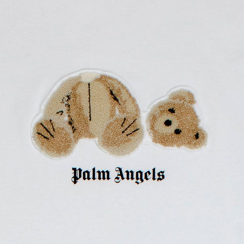 Palm Angels Mini Kill the Bear White T Shirt