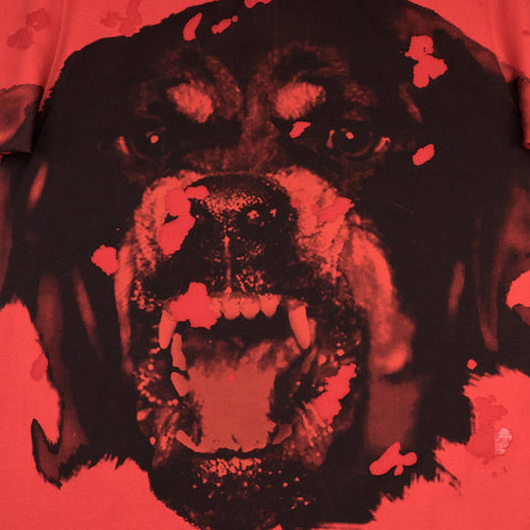 Givenchy Rottweiler Distressed T Shirt