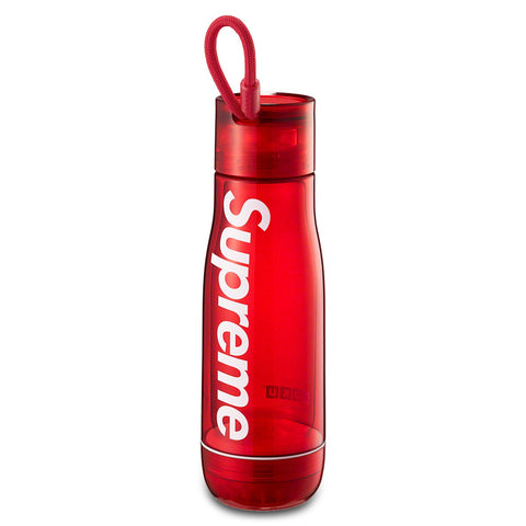 Supreme/Zoku Glass Core 16 oz Red Bottle