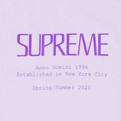 Supreme Anno Domini Light Purple T Shirt