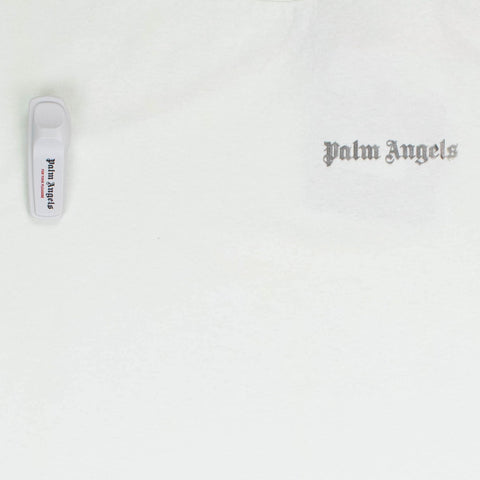 Palm Angels Security Tag Cream Silver T Shirt