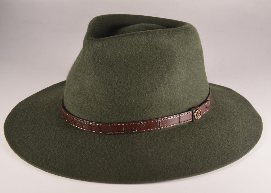 Forest Green Dingo Hat - ADULTS