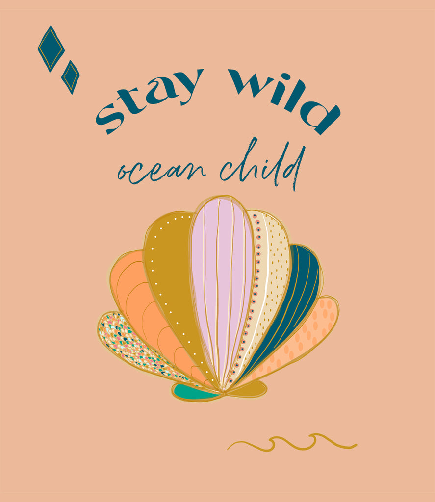 'Less than perfect' Stay wild ocean child tee
