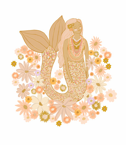 Spring mermaid tee