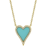 Turquoise Heart Necklace SML