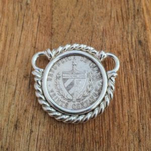 Small Size Cuban Crest Rope Pendant