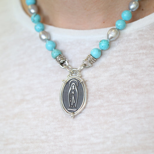 Our Lady of Lourdes Medal Pendant