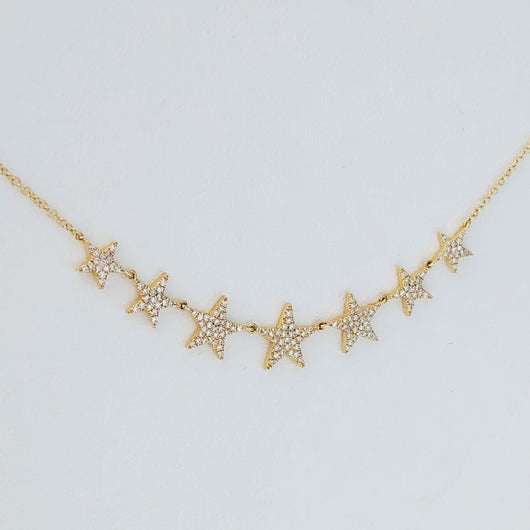 7 Diamond Stars Necklace