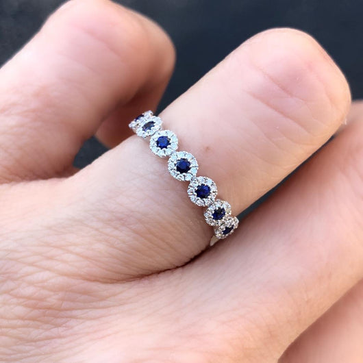 7 Sapphires Ring