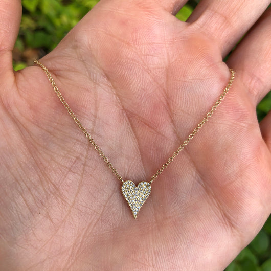Mini White Gold Diamond Heart
