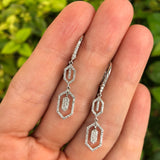 Diamond Geometric Dangle Earrings