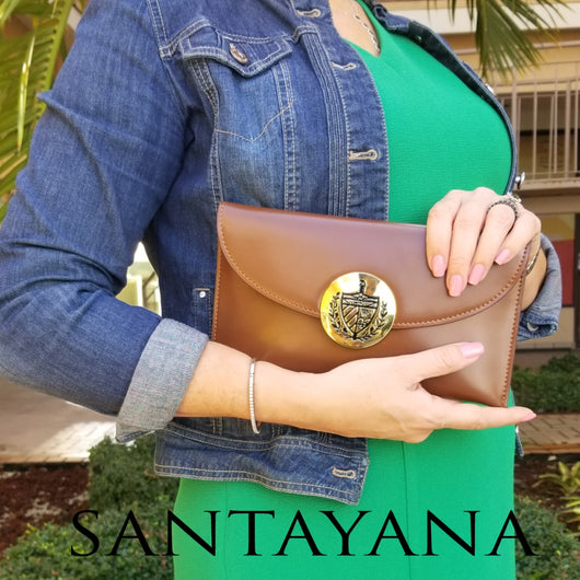 Cuban Crest Leather Purse