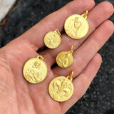 Mary Medal in Yellow Gold