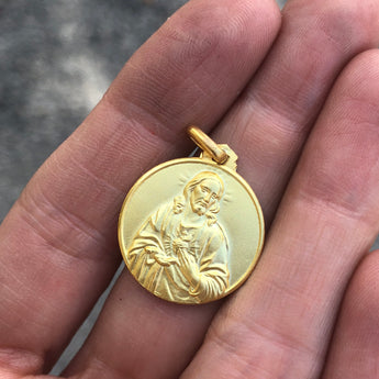 Large Scapular Medal in Gold