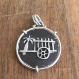 Silver Palm Tree Pendant