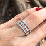 White Gold Lace Diamond Band