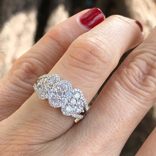 Scalloped Diamond Ring