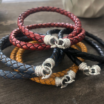 Leather Necklace Chord with Connections