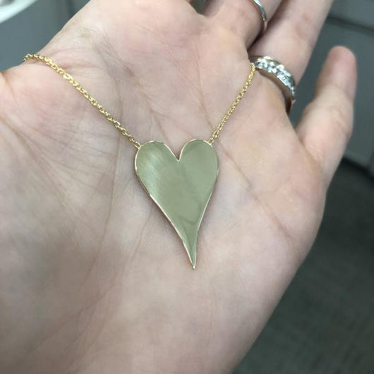 Yellow Gold Engraveable Heart