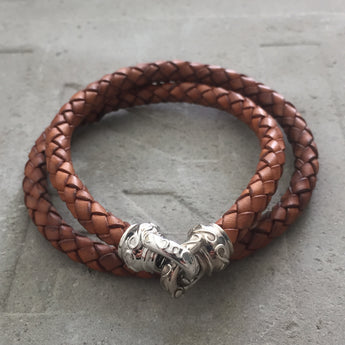 Brown Leather Necklace