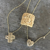 Yellow Gold Cross Pendant with Diamond