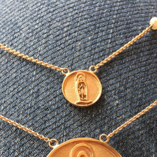 Mini Our Lady of Lourdes Rose Gold