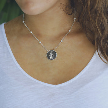 Miraculous Medal Pendant Necklace