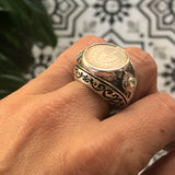 Dome Cuban Crest Ring