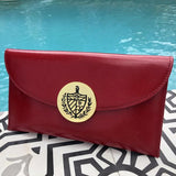 Cuban Crest Leather Purse (Red)