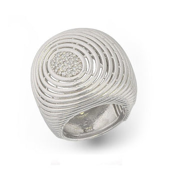 Big Ripples Collections Ring with Diamonds.