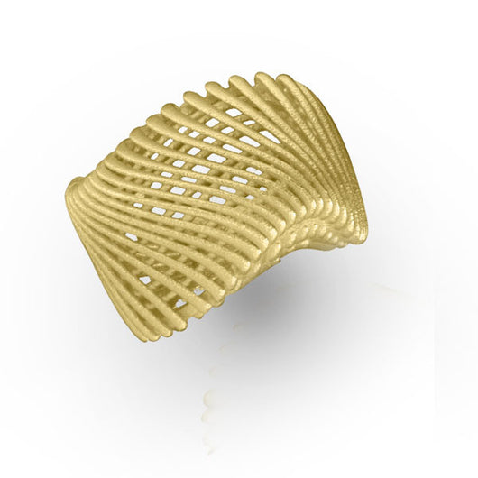 14K Yellow Gold Ring with Architecture Design