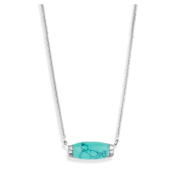 Silver Necklace with Turquoise Stone TS