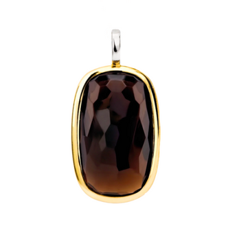 Rectangle Dark Brown Stone Pendant TS