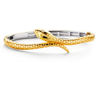 Golden Snake Bangle Bracelet TS
