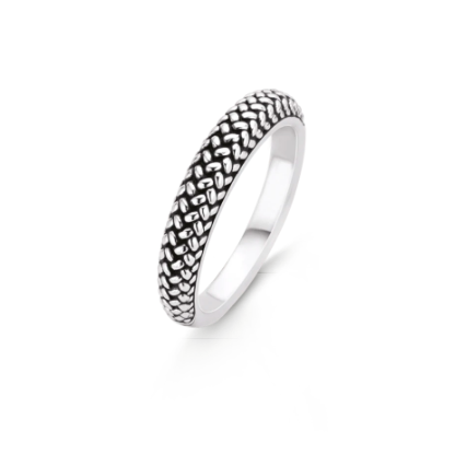 Silver Braid Stack Ring THN TS