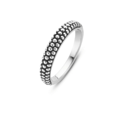 Silver Beaded Stack Ring THN TS