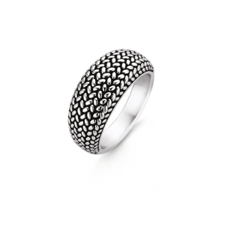 Silver Braid Stack Ring MED TS