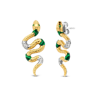 Snake Earrings with Zircon TS