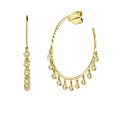 Celia Diamond Shaker Hoop Earrings