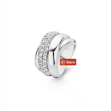 Silver Fat Wraps Ring with Zirconia