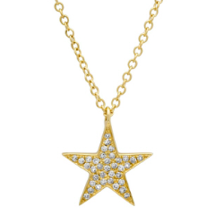 Yellow Gold Single Diamond Star