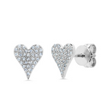 Mini Diamond Heart Earrings