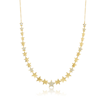 Yellow Gold Diamond All Stars Necklace