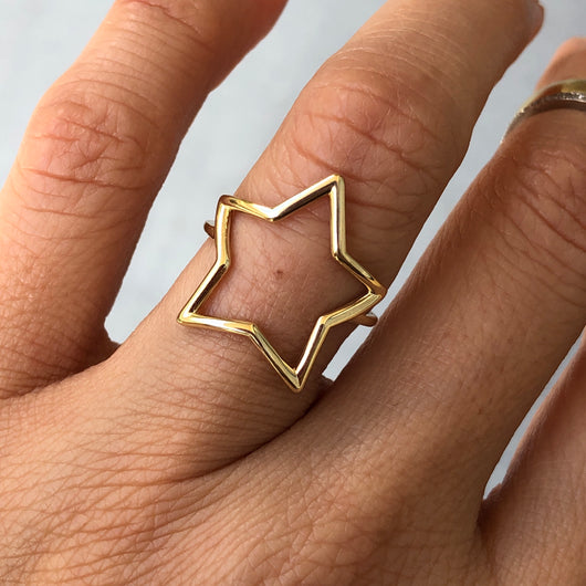 Open Star Ring