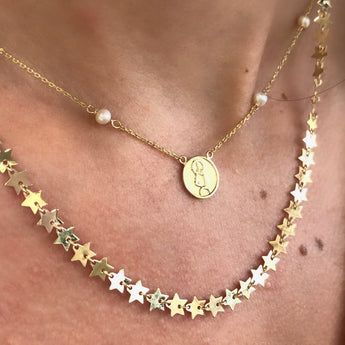 14K Stars Necklace