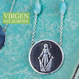 Virgen Milagrosa Medal Necklace
