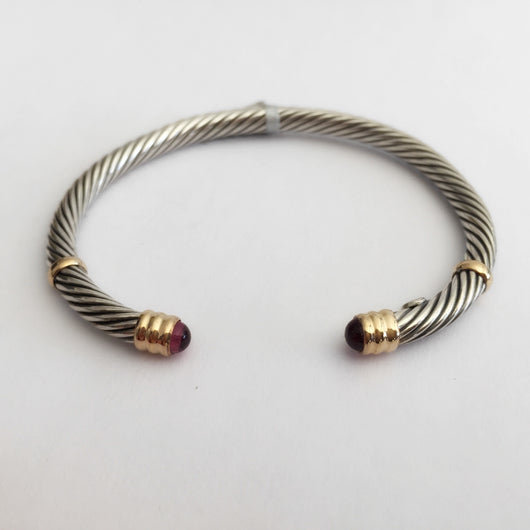 Mini Twist Bangle with Amethyst
