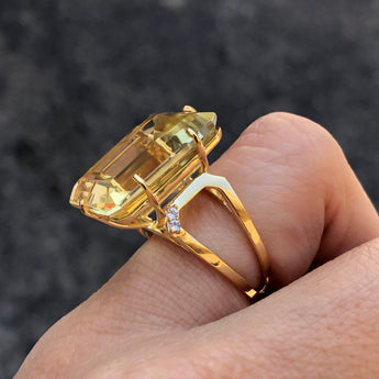 Big Citrine Ring