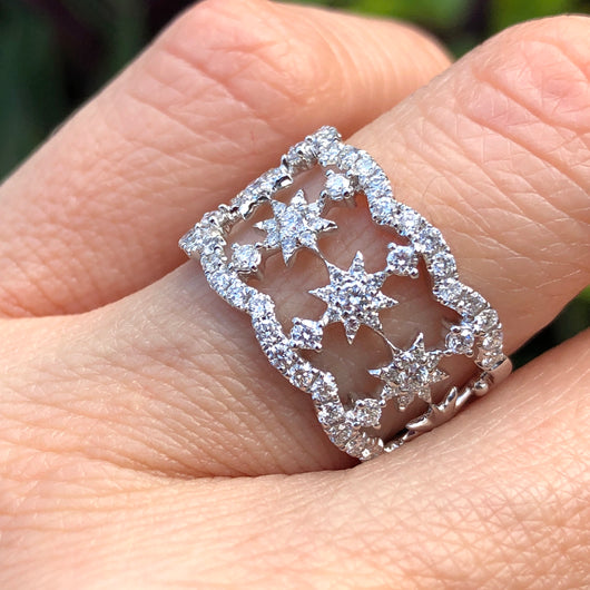 Stars and Lace Diamond Ring
