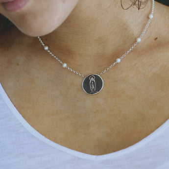 Our Lady of Lourdes Medal Necklace